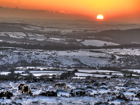 Dartmoor in the winter